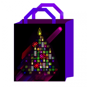 jewelled Christmas tree bag