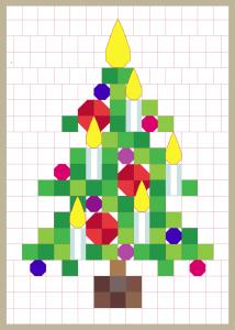 grid christmas tree design