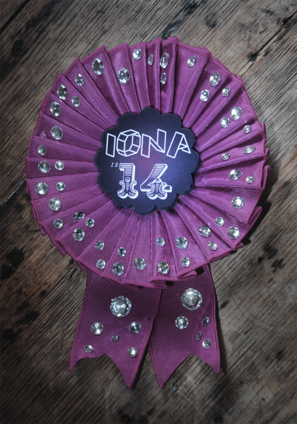 birthday rosette badge