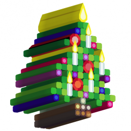 extruded christmas tree