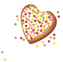 small heart cookie