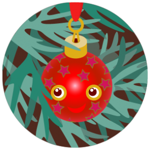 thirteen red bauble