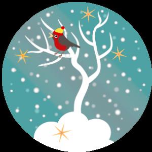 nineteen snow tree