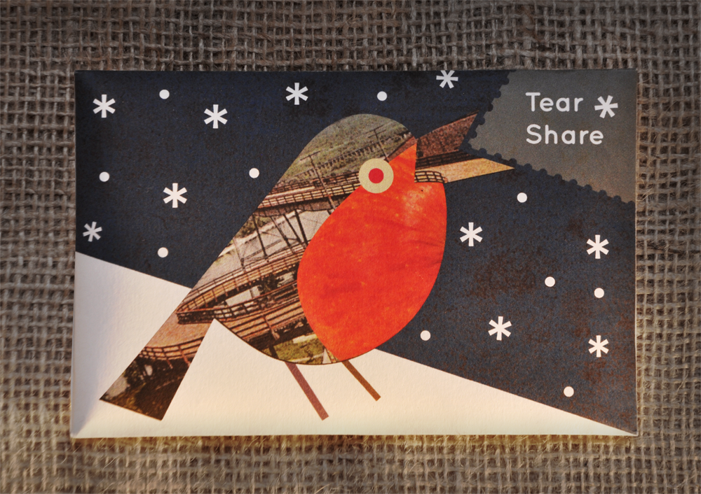 navy robin bird seed card