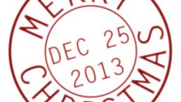 25th december stamp