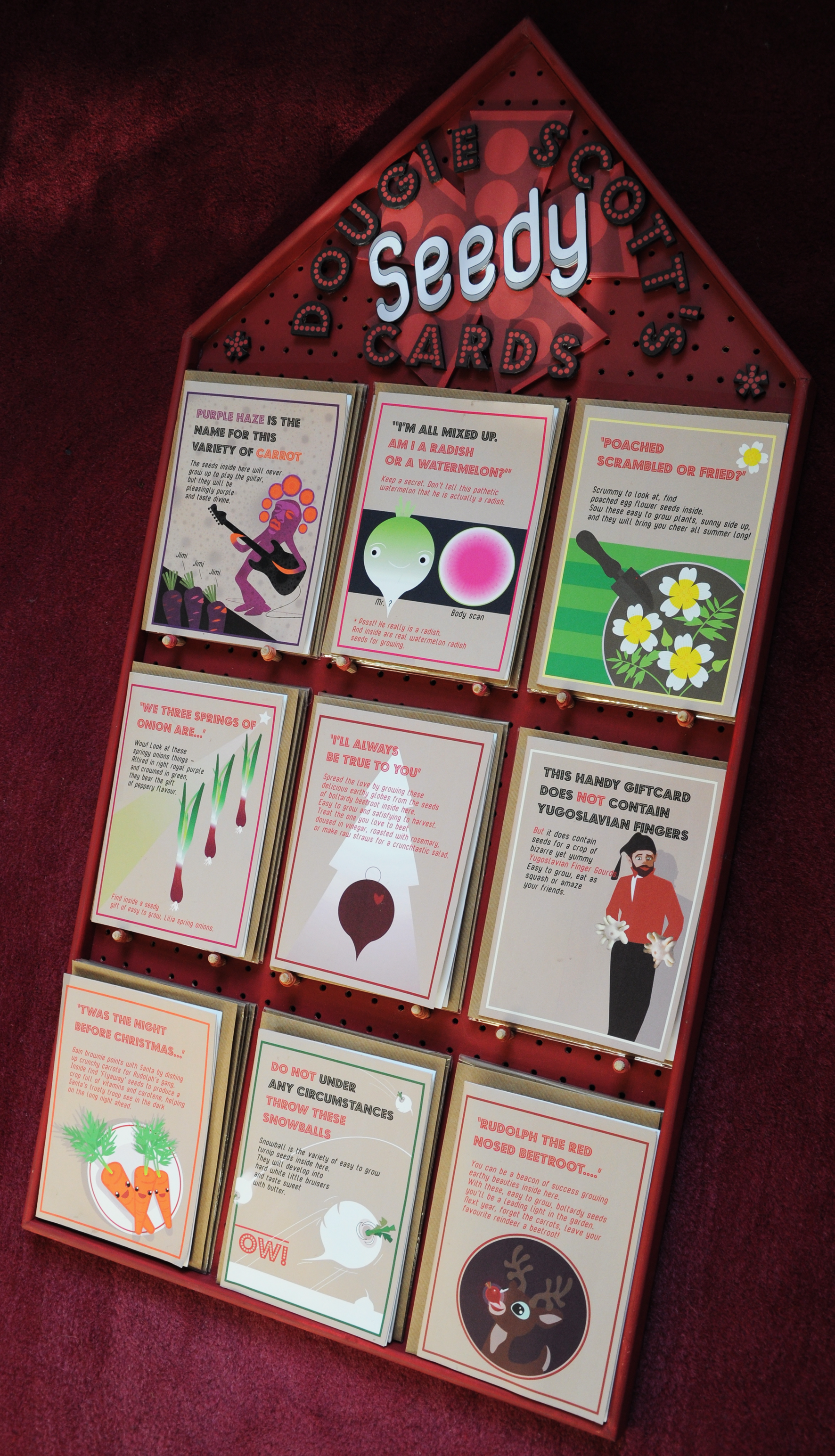 Seedy Card Display Board
