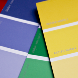 Dulux paint swatches. Dougie Scott