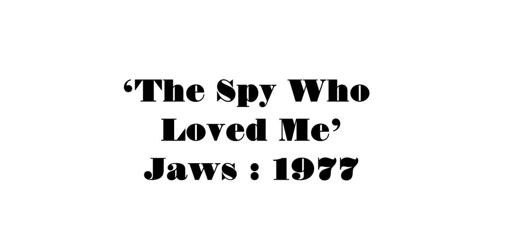 Answer - Bond Movie Smile