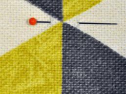 Fabric and pin square. Dougie Scott