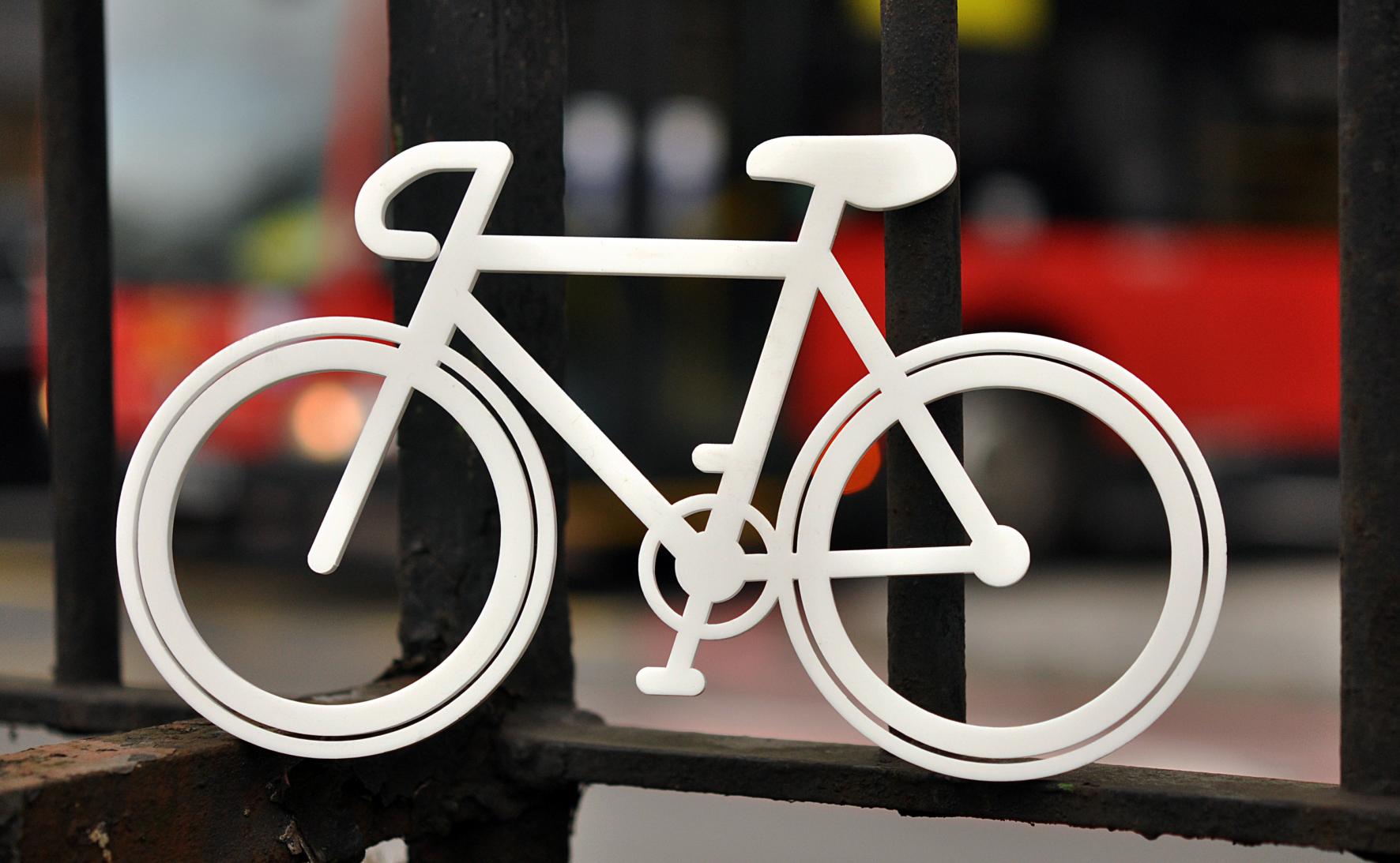 White Bike - Tower Bridge Road Junction.