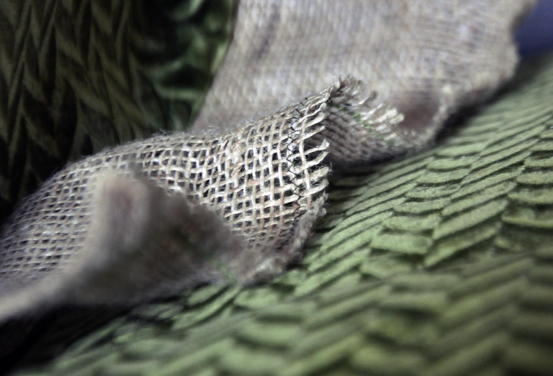 Hessian Skirt on Upholstery. Dougie Scott