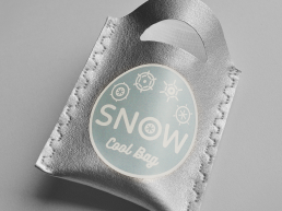 Coldbag filled with snow pom pom. Dougie Scott