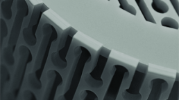 Laser cut acrylic bluetooth speaker - detail square b/w. Dougie Scott