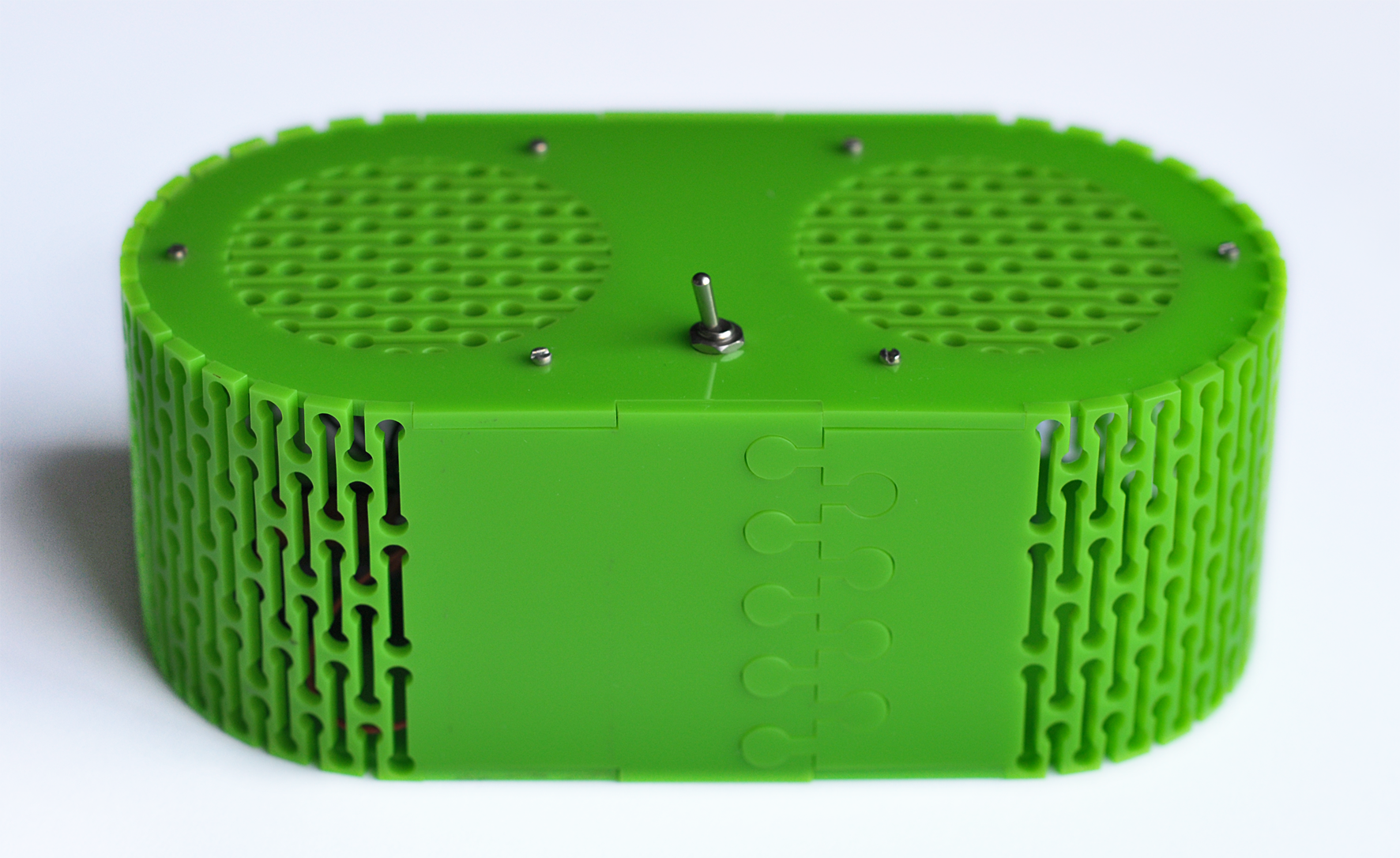 Bluetooth speaker box – Laser cut perspex back. Dougie Scott