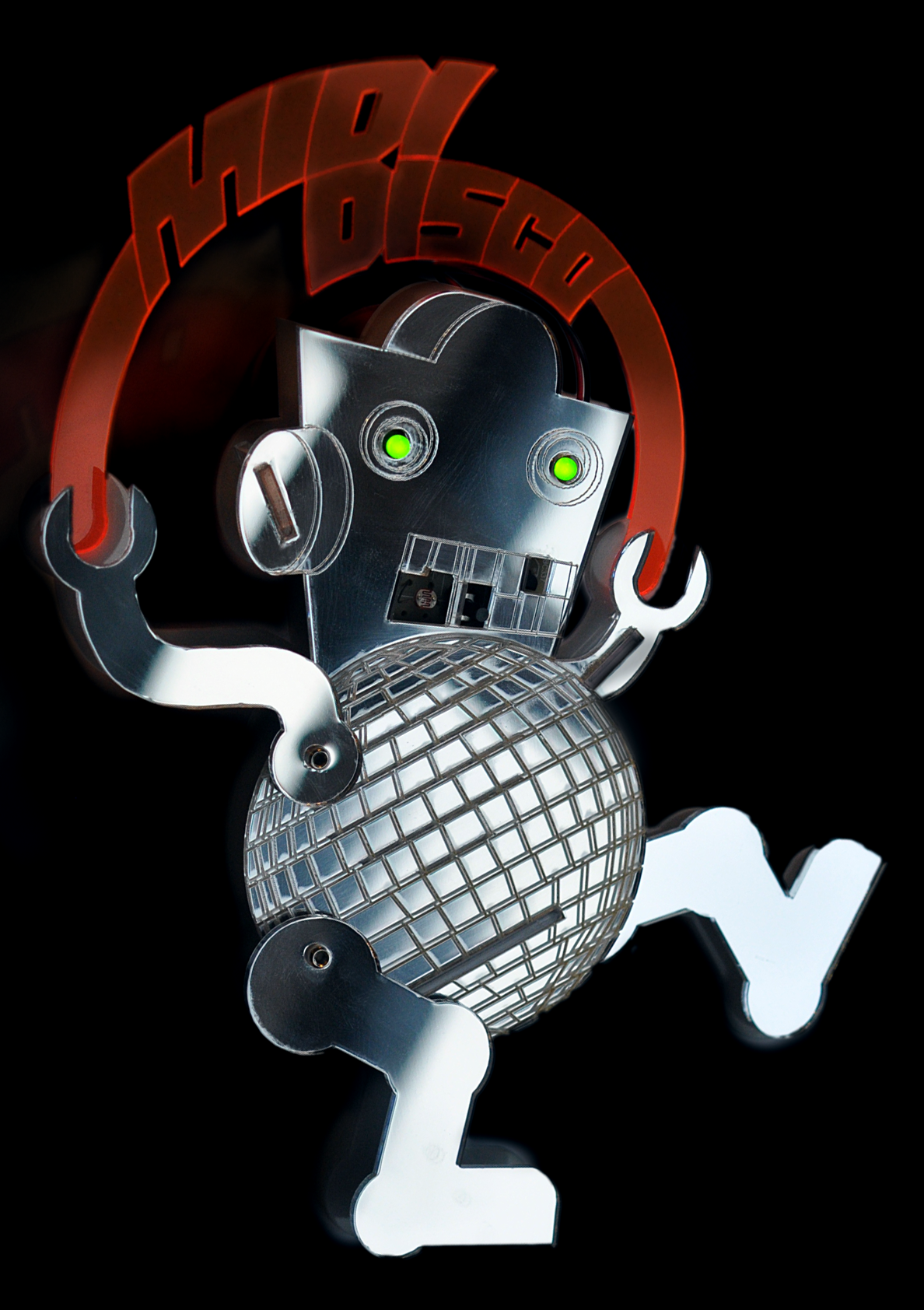 Dance! MIDI Disco Glitterball Robot. Dougie Scott