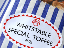 Whitstable special toffee square. Dougie Scott