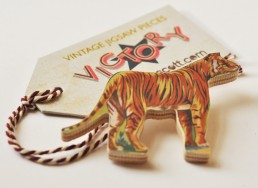 Tiger Stripe Brooch + Label